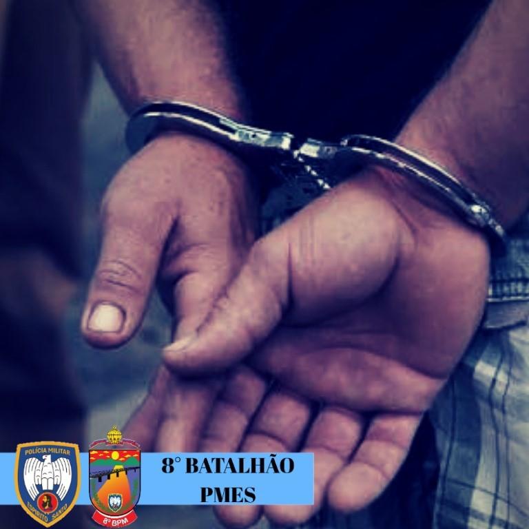Acusado de homicídio que se escondia em Pancas é preso pela PM