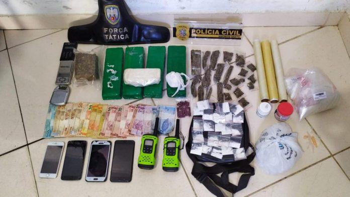 Grande quantidade de drogas é apreendida durante operação policial em Nova Venécia