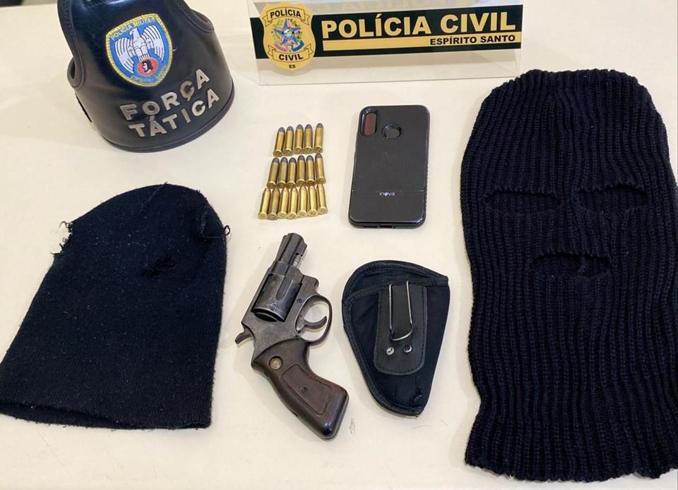 Polícia Militar apreende arma de fogo e munições em Nova Venécia