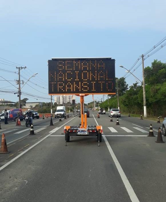 Bptran realiza operação integrada com o Detran na Semana Nacional de Trânsito
