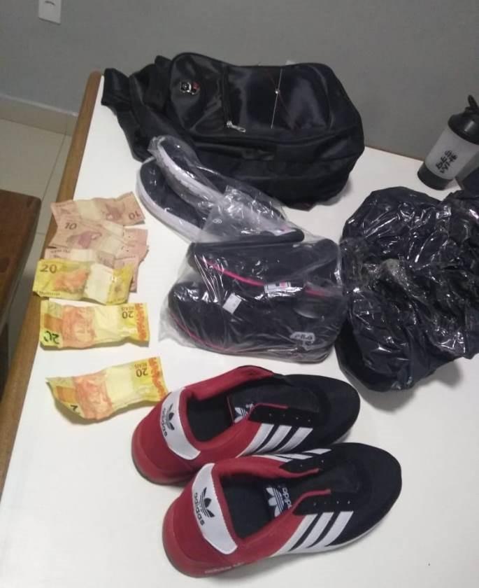 Dupla é presa pela Polícia Militar, após furtarem loja em Afonso Cláudio