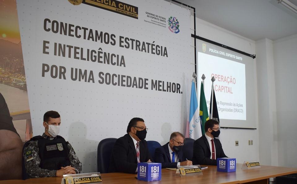 PCES desarticula organização criminosa que movimentou mais de R$ 2 milhões provenientes do tráfico de drogas