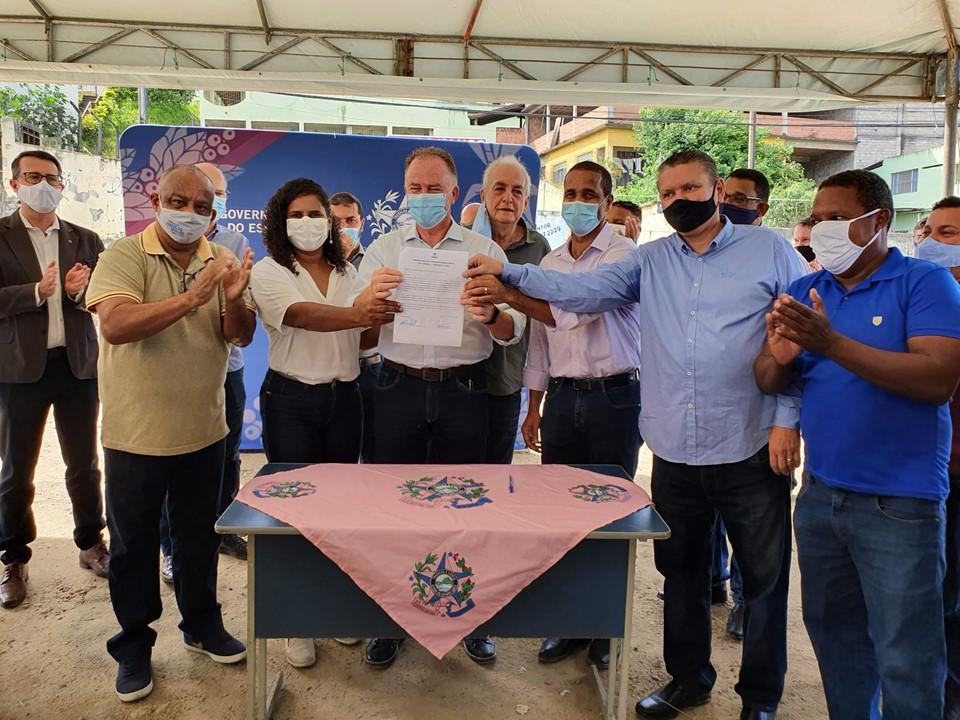 Governador autoriza início da PPP para universalização do serviço de esgoto de Cariacica