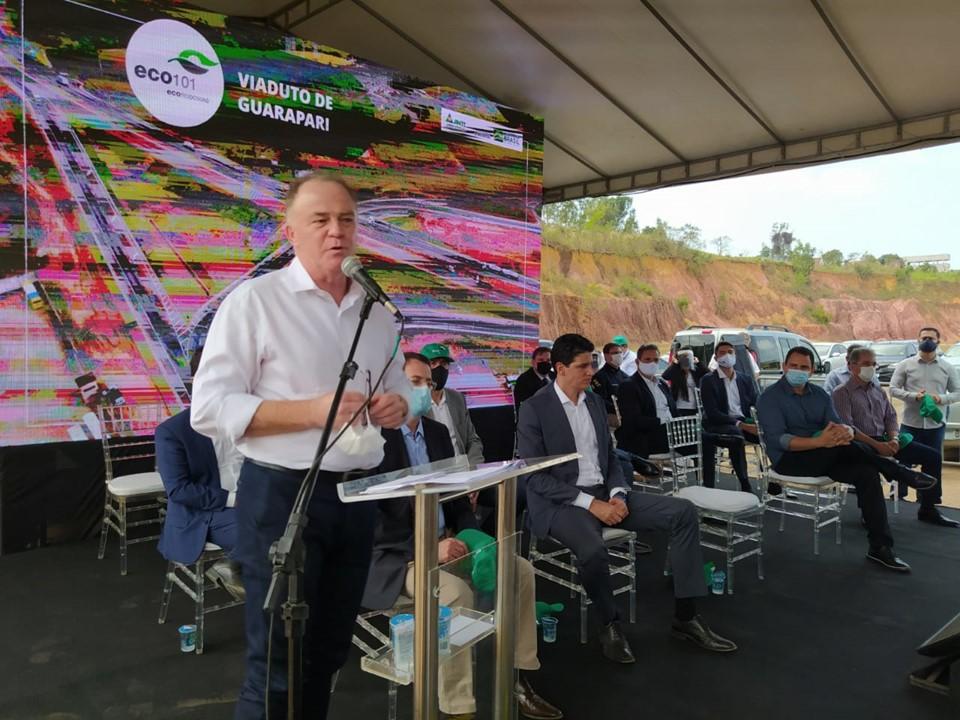 Governador Casagrande participa da entrega de trecho da BR-101