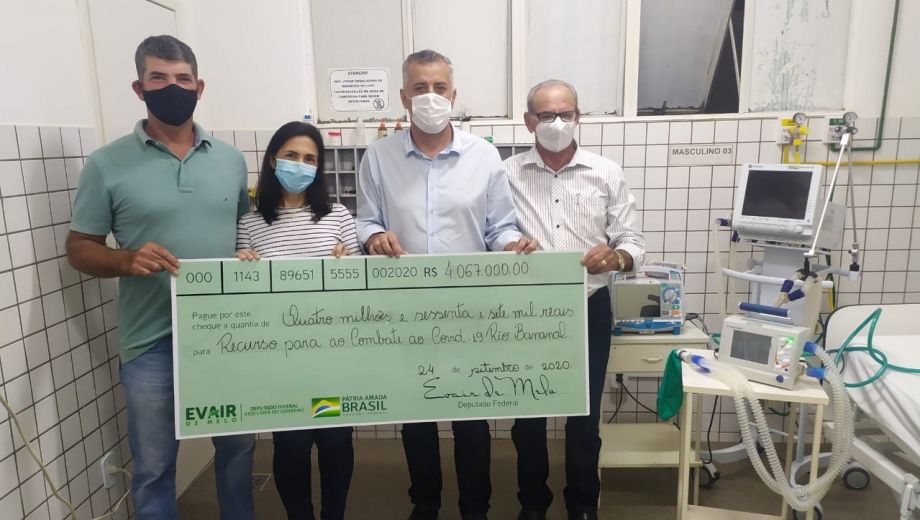 Rio Bananal recebe mais de R$4 milhões do governo federal para enfrentamento à Covid-19