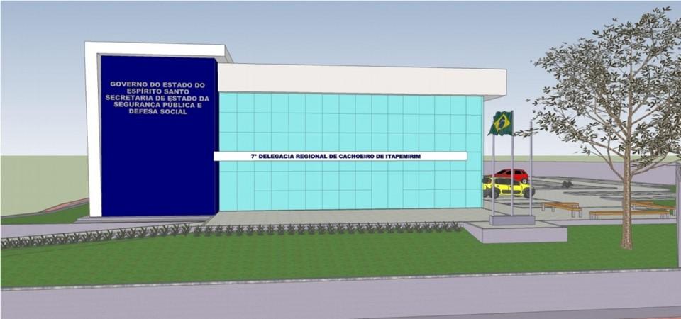 Casagrande autoriza construção da Delegacia Regional de Cachoeiro de Itapemirim