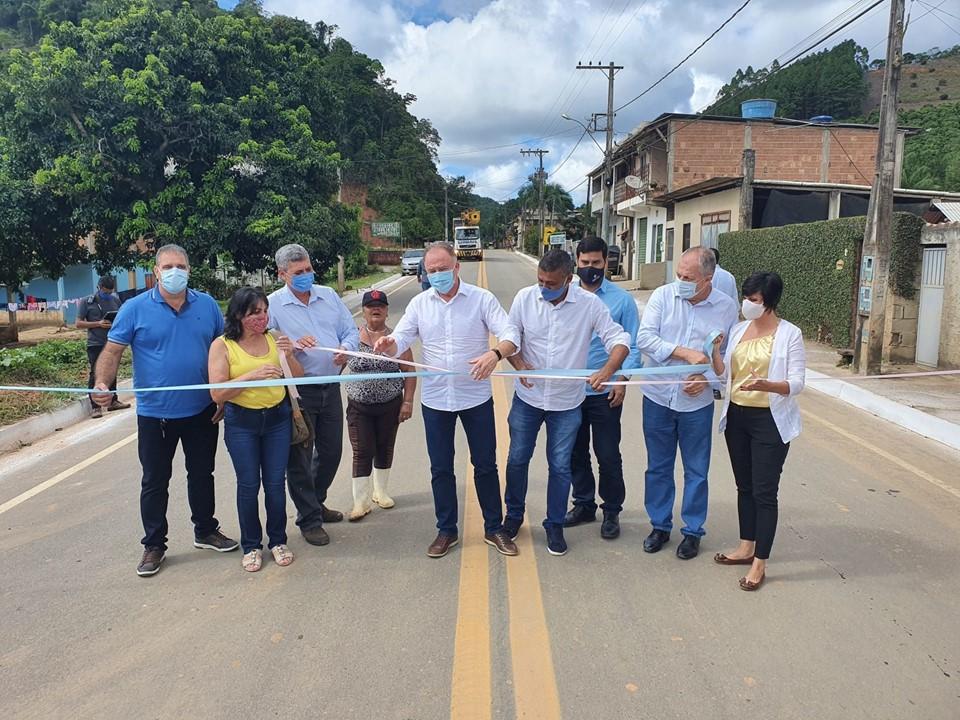 Governador entrega obra de pavimentação da Rodovia ES-164, em Vargem Alta