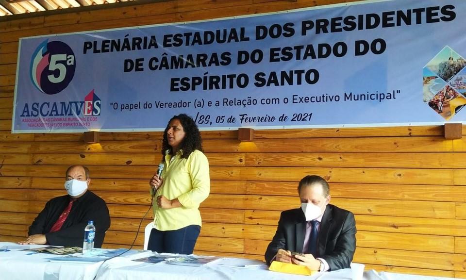 Vice-Governadora participa da posse de nova diretoria da Associação das Câmaras de Vereadores do Estado