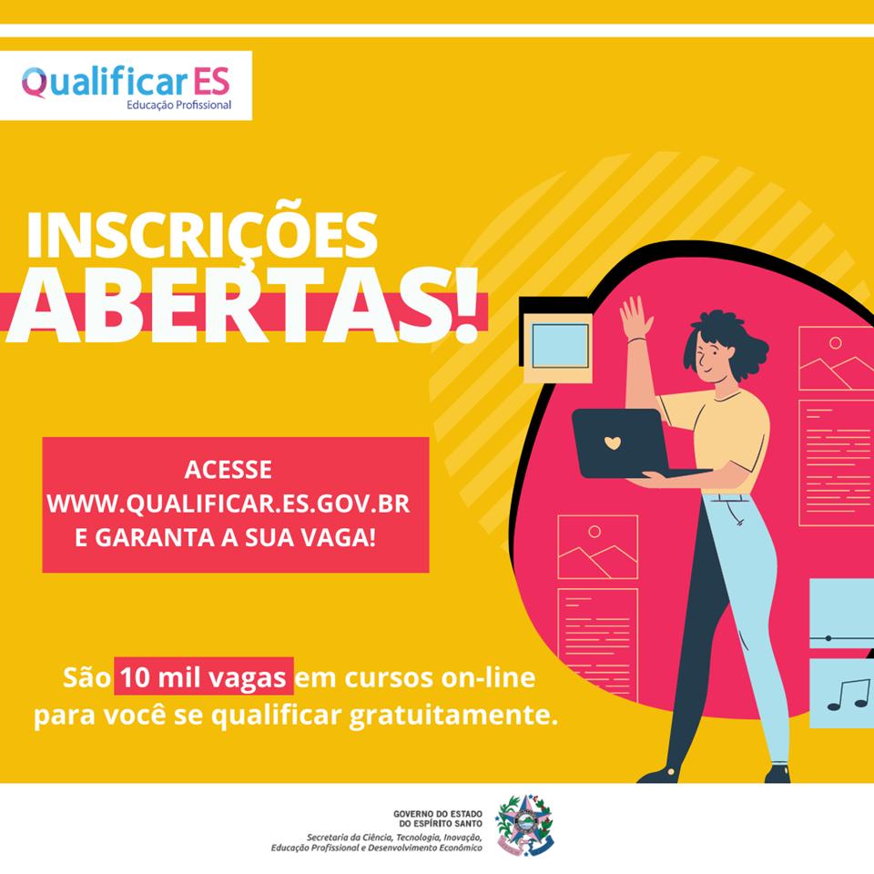 Começam nesta terça-feira (30) as inscrições para 10 mil vagas em cursos de qualificação on-line