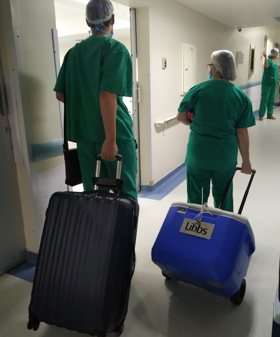 Hospital Estadual Central realiza duas captações de múltiplos órgãos no mesmo dia