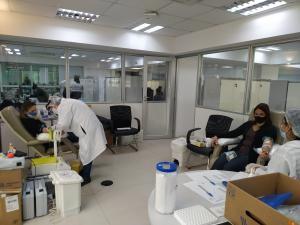 Campanha de doação de sangue na Sefaz arrecada 34 bolsas de sangue para o Hemoes