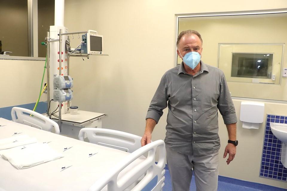 Governo do Estado entrega mais 10 leitos de UTI Covid-19 no Hospital São Lucas