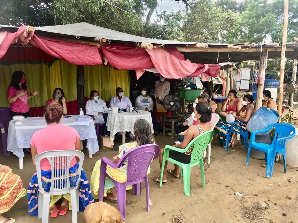 Outubro Rosa: SEDH e Sesa fazem ação integrada em comunidade cigana