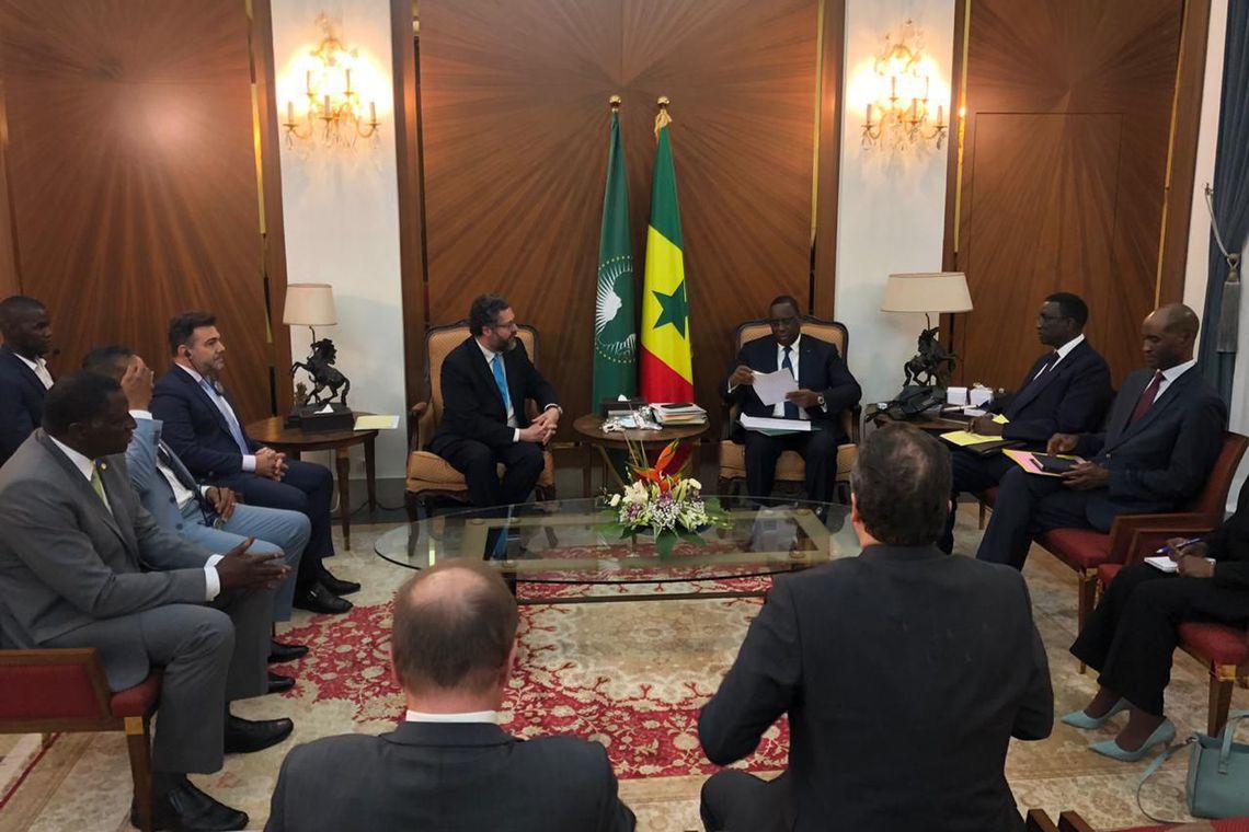 Bolsonaro convida presidente do Senegal a visitar o Brasil em 2020